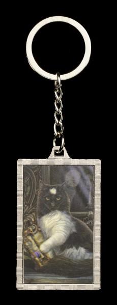 3D Schlüsselanhänger mit Katze - Times Up