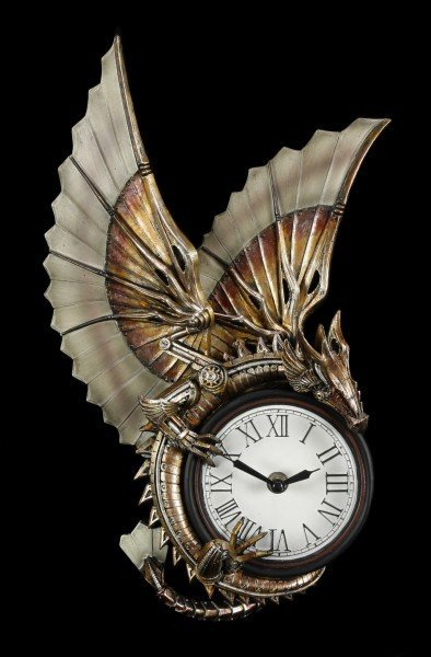 Steampunk Wanduhr Drache - Clockwork Dragon
