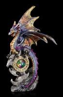 Drachen Figuren mit Schmucksteinen 2er Set - Beschützer des Königreichs