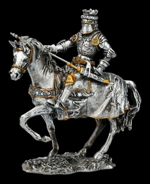 Zinn Ritter - Auf Pferd mit Langaxt