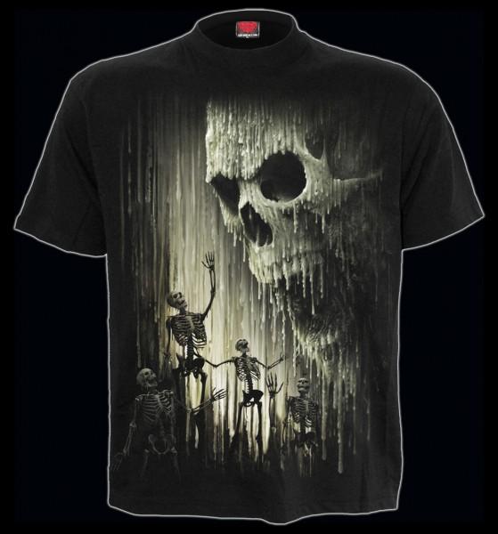 Spiral Totenkopf T-Shirt - Waxed Skull