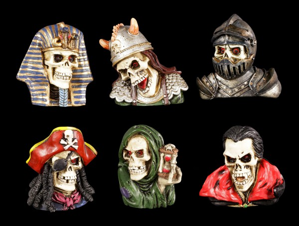 Fridge Magnets - Skull Legends - Set of 6