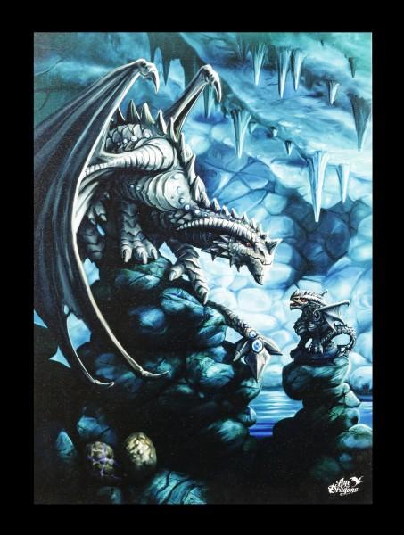 Kleine Leinwand Steindrache - Rock Dragon