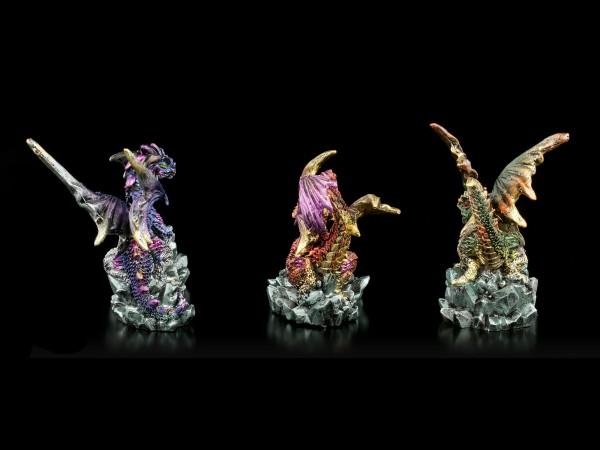 Small Dragon Figurines - Set of 3