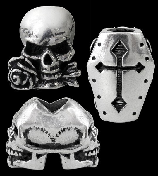 Alchemy Gothic Bartperlen - 3er Set