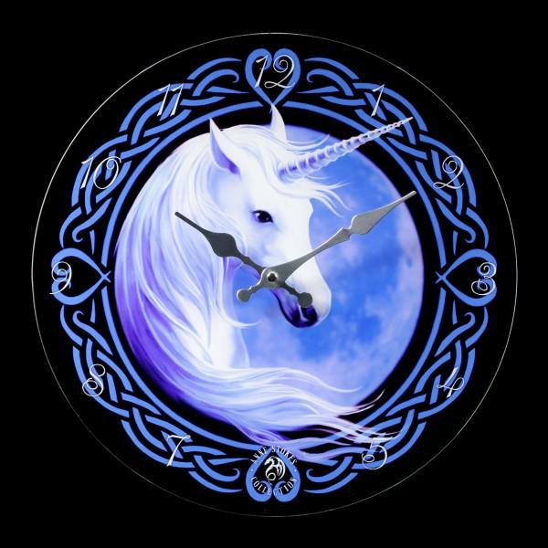 Glass Wall Clock - Celtic Unicorn