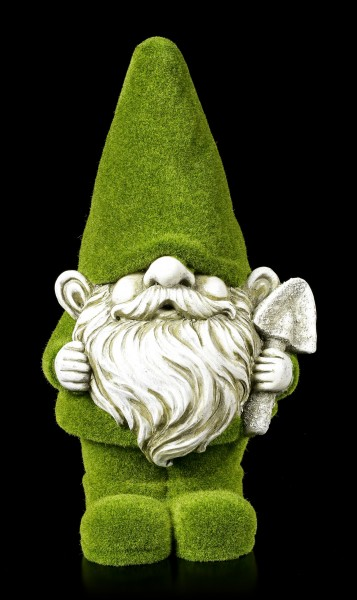 Moss-Covered Garden Gnome Figurine