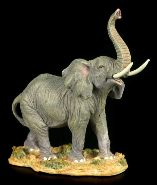 Elefanten Figur mit erhobenem Rüssel