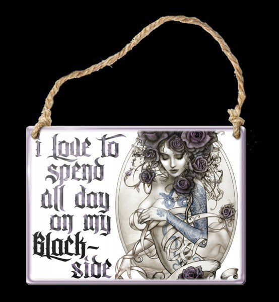 Alchemy Metal Sign small - Blackside