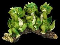 Süße Drachen Figuren auf Ast - Nichts Böses...