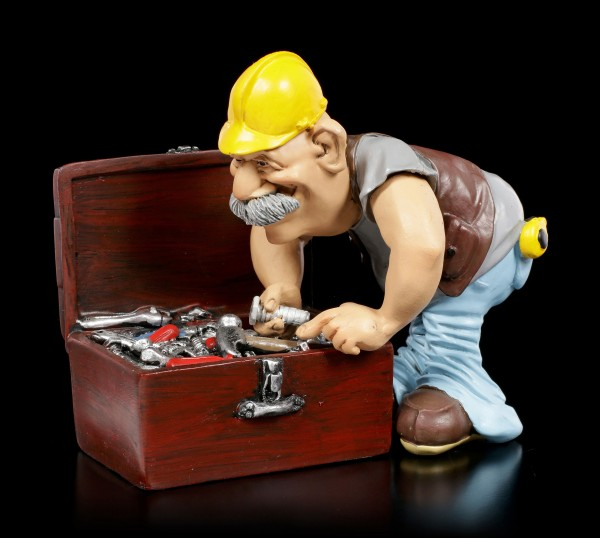 Funny Jobs Figurine - Craftsman is Looking for Tool