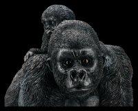 Gartenfigur - Gorilla Mama mit Kind