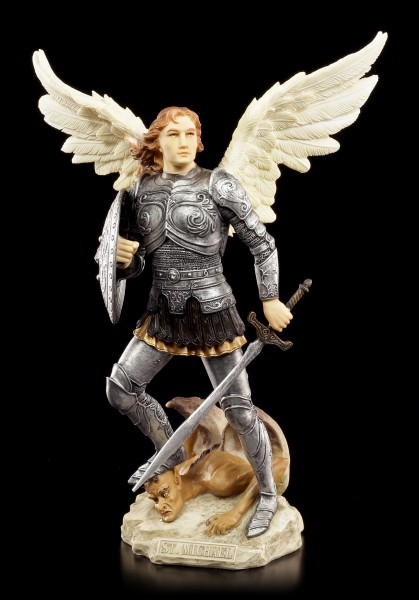Archangel Michael Figurine - colored