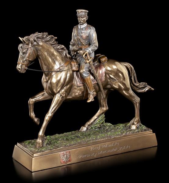 Jozef Klemens Pilsudski Figur auf Pferd