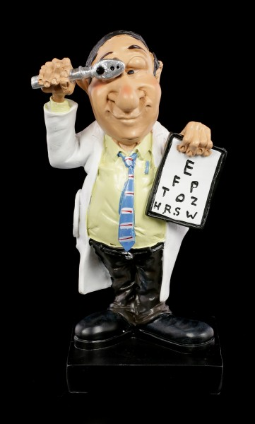 Funny Job Figurine - Eye Doctor with Ophthalmoscope