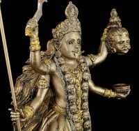 Hindu God Figurine - Kali with Trident and Head