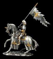 Zinnritter auf Pferd mit Flagge