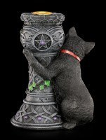 Witches Cat Candle Holder - Midnight