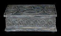 Celtic Box - Rectangular Black with Pentagram