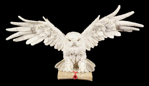Preview: Wall Plaque White Owl - The Emissary