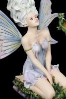 Elfen Figur - Velda kniend mit Drache