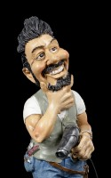 Funny Jobs Figurine - Hairdresser with Hair Dryer