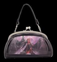 Lack Abend-Handtasche mit 3D Motiv - Blood Moon