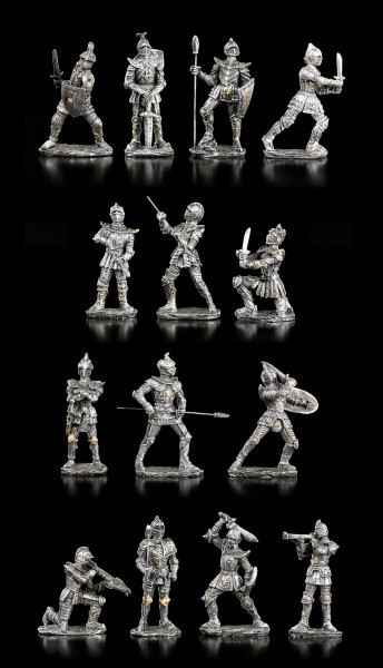 Knight Figurines for Knight's Castle Display - Set of 14