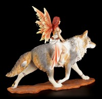 Elfen Figur - Admina mit Timba Wolf