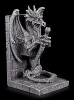 Drachen Buchstützen Set - Wissenswächter