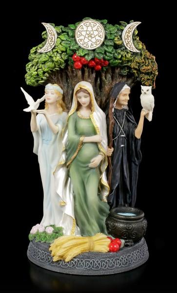 Keltische Dreifaltigkeits Göttin Figur - coloriert