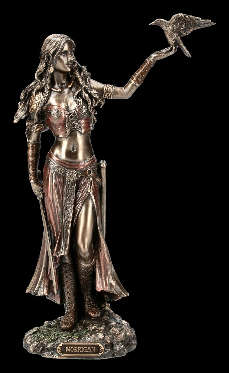 Morrigan Figurine - Celtic Goddess with Raven