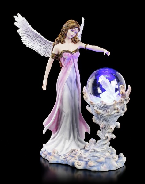 Angel Figurine with LED - Pegasus in Glass Ball