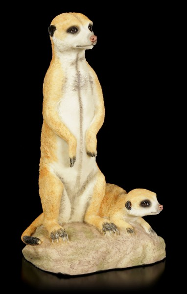 Meerkat Figurine with Baby