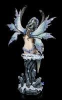 Winter Elfen Figur - Ciana mit Schnee Eule
