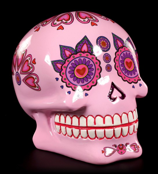 Spardose - Mexikanischer Day of the Dead Totenkopf - Pink Candy