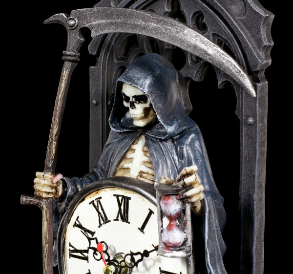 Reaper Table Clock - Time Waits for no Man