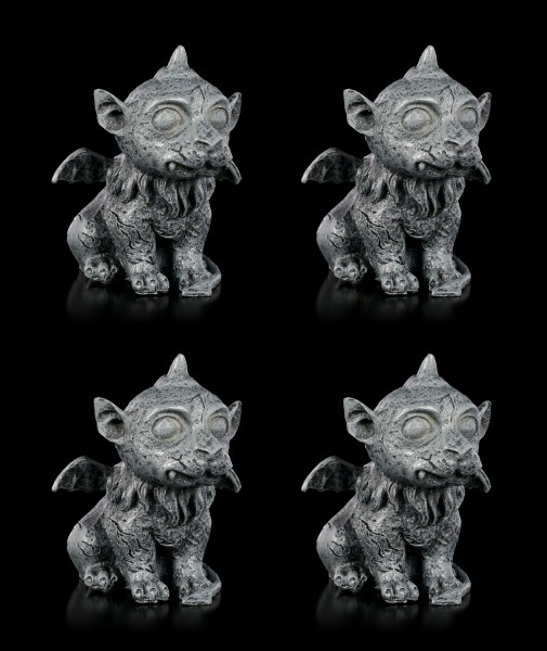 Gargoyle Figuren - Little Unicorn 4er Set