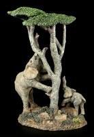 Elefanten Figur - Familie auf Nahrungssuche
