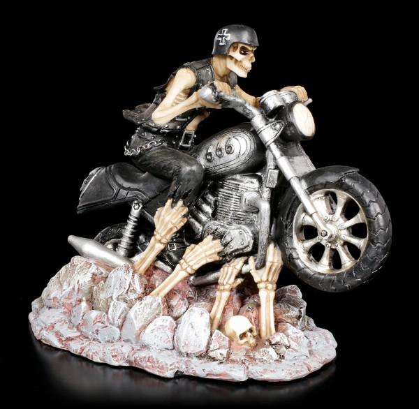 Skeleton Figurine on Bike - Ride out of Hell