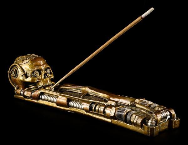 Incense Stick Holder - Steampunk Skull