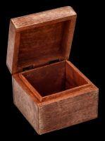 Wodden Box - Brass Pentagram