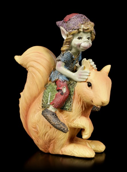 Pixie Figurine - Squirrel Race