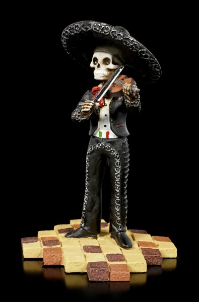 Skelett Figur - Mariachi Band Geige