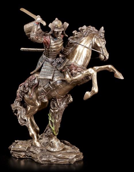 Samurai Figur - Krieger reitet in den Kampf