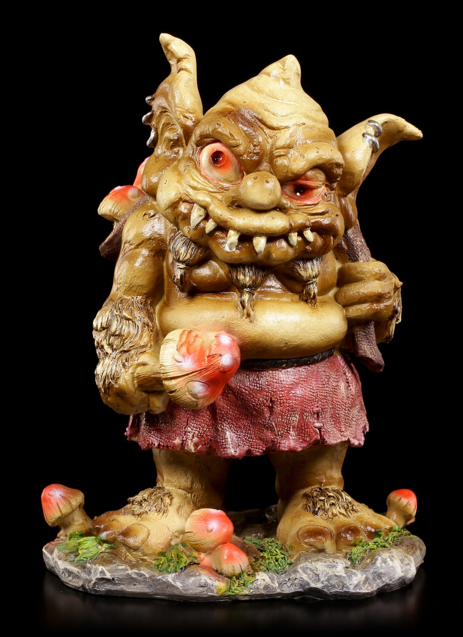 Troll Figurine - Rakash with Sack full of Toadstool