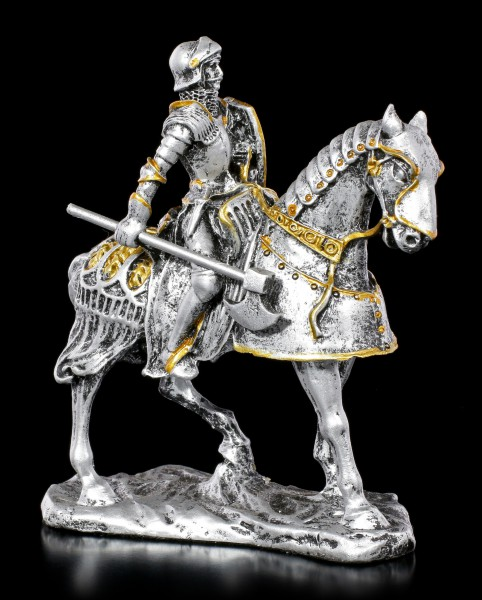 Small Knight Figurine on Horse with Axe
