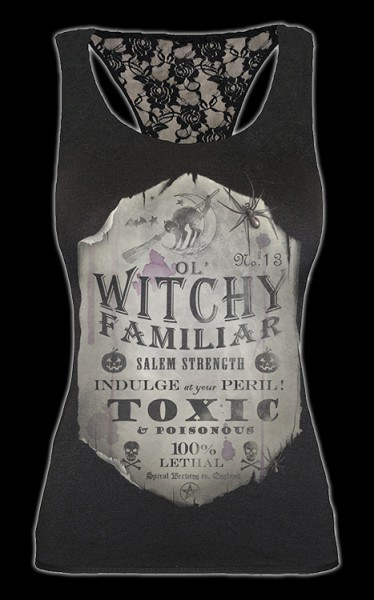 Witchy Familiar - Lace Back Top