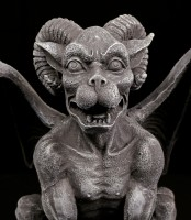 Gargoyle with Ram Horns and spreaded Wings