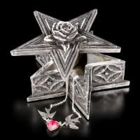 Pentagramm Box mit Rose